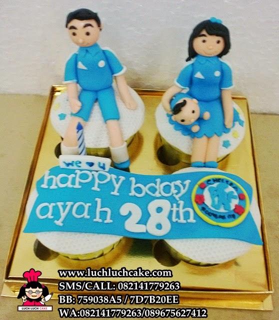 Cupcake Ulang Tahun Keluarga Tema Chelsea