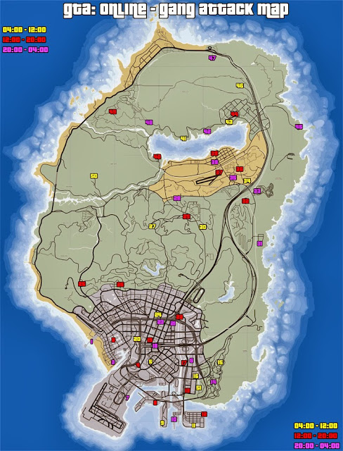 GTA Online Gang Attack Locations