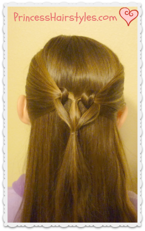 heart knot hairstyle for valentines day