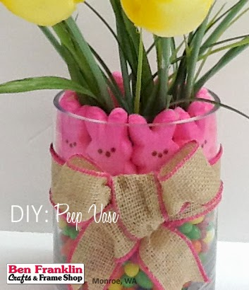 Add a beautiful bow to your Peep Vase and display!
