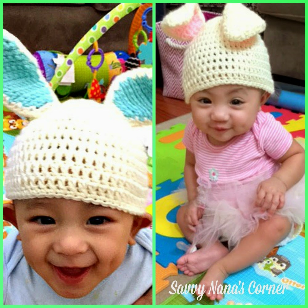 Free Crochet Pattern For Bunny Ears And Diaper Cover : DIY Crochet Twin Bunny Hat & Diaper Cover Sets - FREE ...