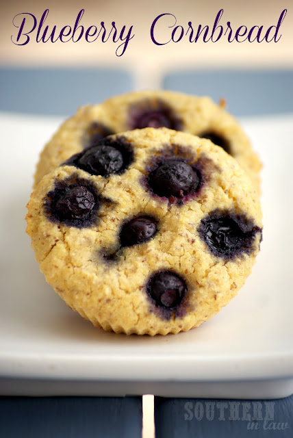 Blueberry Cornbread Muffins - Gluten Free Low Fat Healthy Vegan