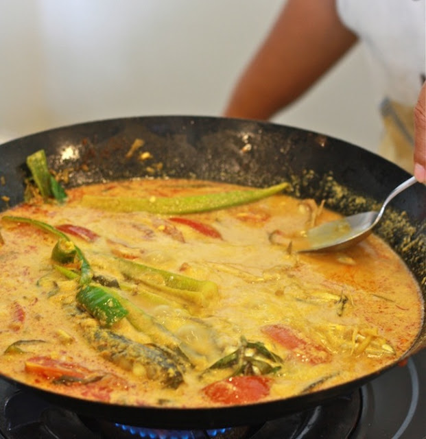 Malaysian style fish curry