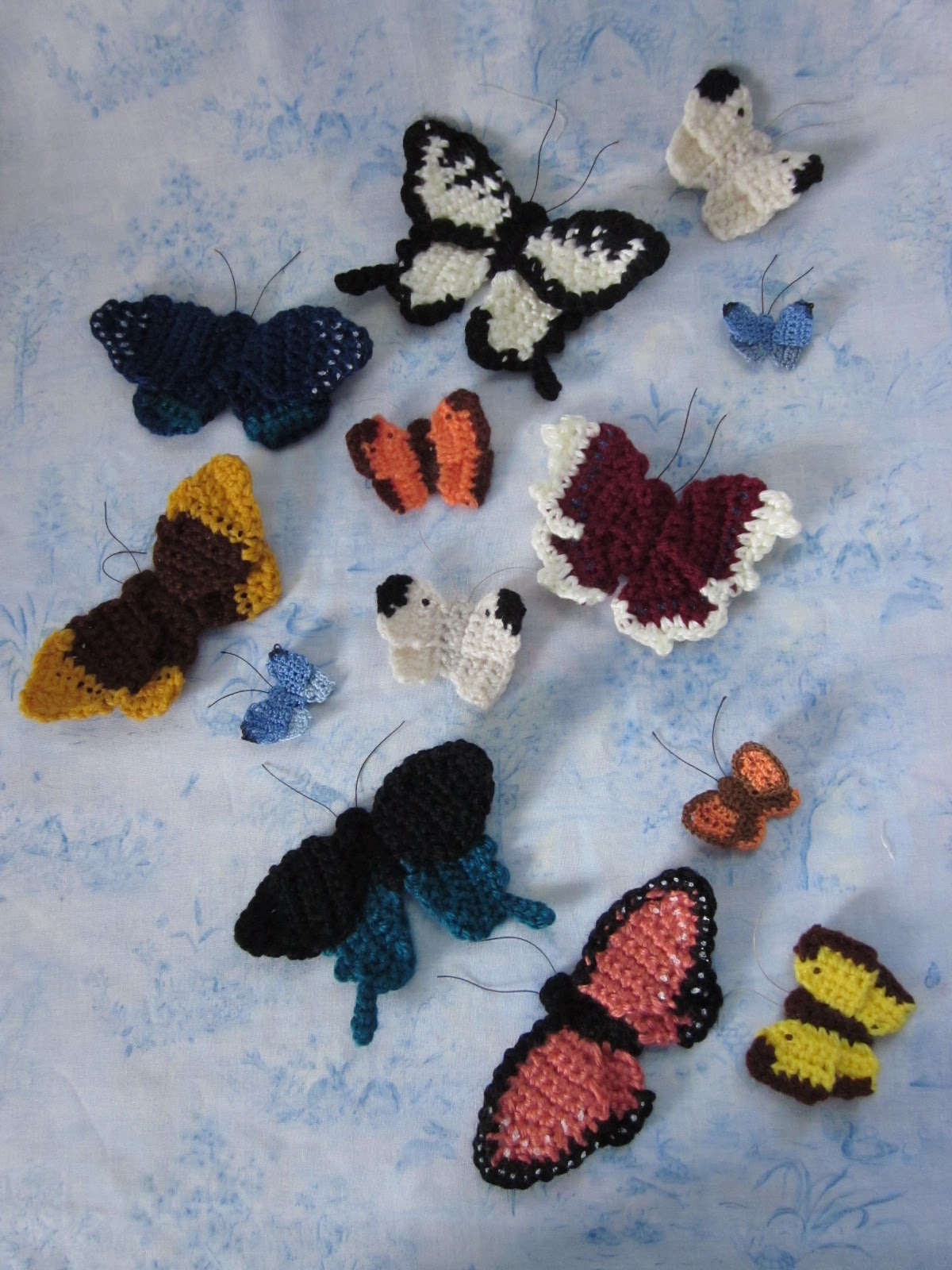 By Hook, By Hand: Butterflies are Free; at least, mine are :-)