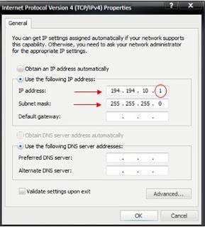 contoh gambar Internet Protocol Version 4 (TCP/IPv4)