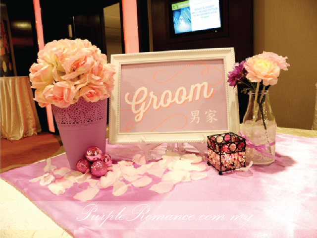rainbow photo booth backdrop decoration, paper fans, light purple, bride & groom signage, candle holders, purple vases, pom pom flowers, welcome board, red carpet, props for photo taking, floral stands, flower, wedding, event, bithday, kids, children, colourful, rainbow, corporate, sheraton imperial hotel, kuala lumpur, selangor, malaysia, ideas, modern