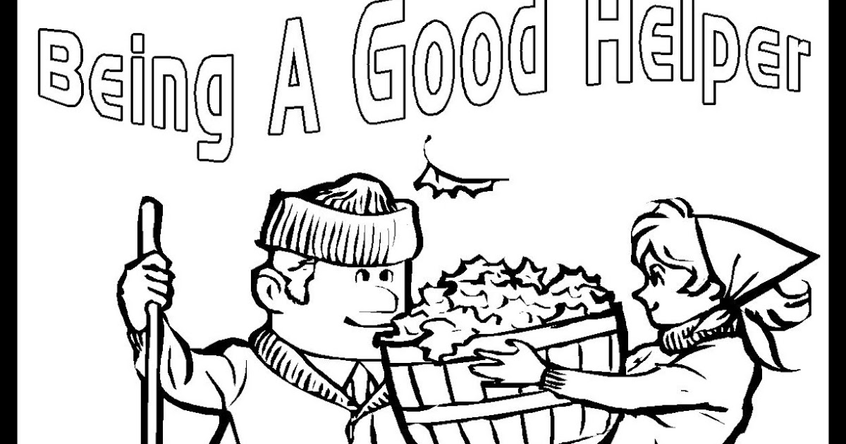 good helper coloring pages - photo#8