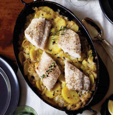 Braised Fish with leeks, thyme and potatoes recipe - All ...
