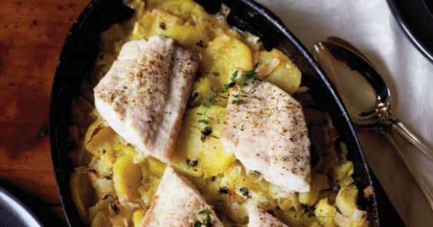 Braised Fish with leeks, thyme and potatoes recipe - All in one ...