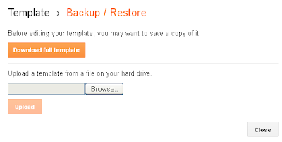 Download or Backup Blogger Templates