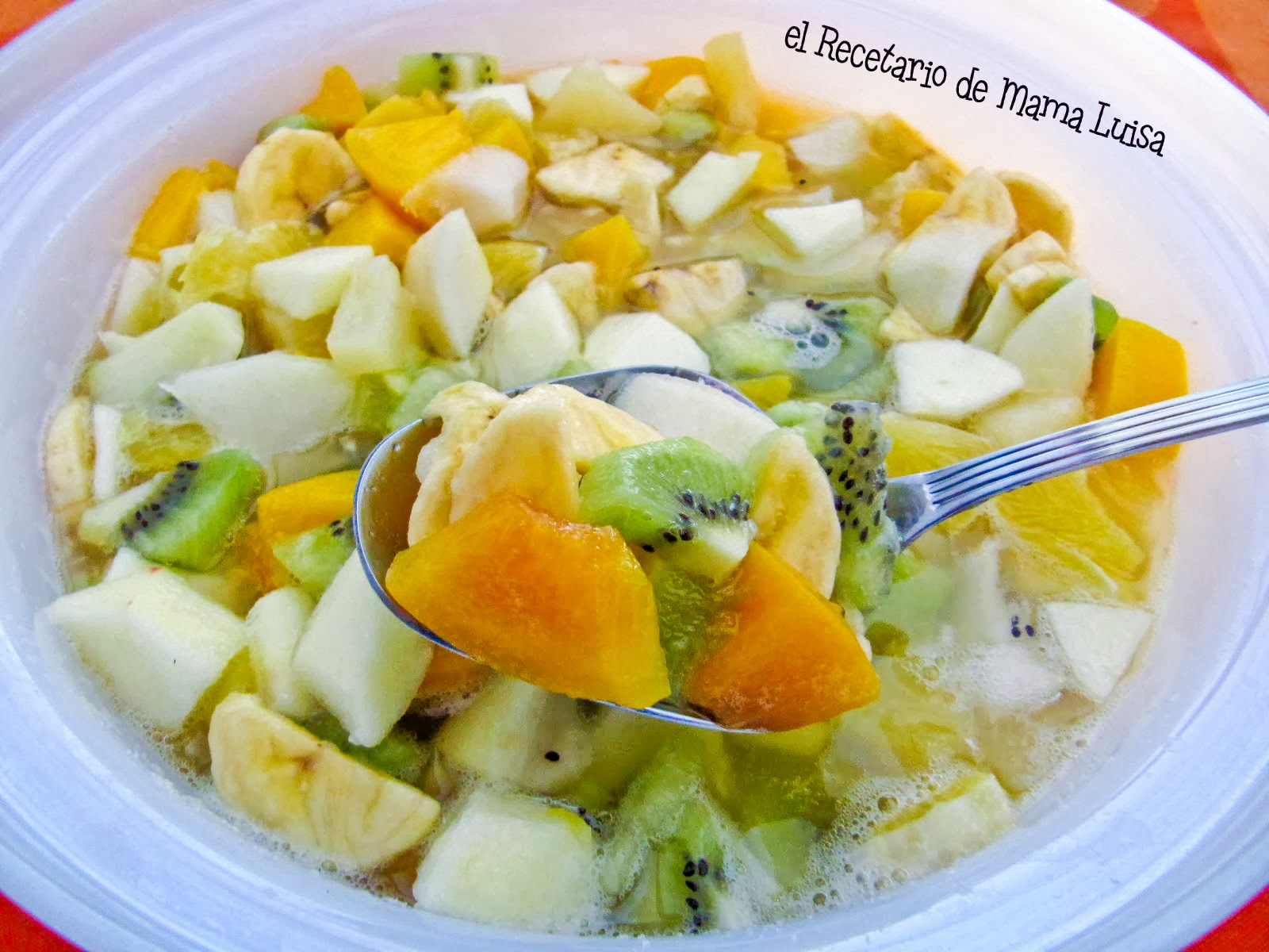 El recetario de mama luisa macedonia de frutas - Macedonia de frutas thermomix ...
