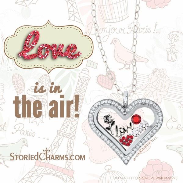 Love is in the Air Origami Owl Living Locket from StoriedCharms.com