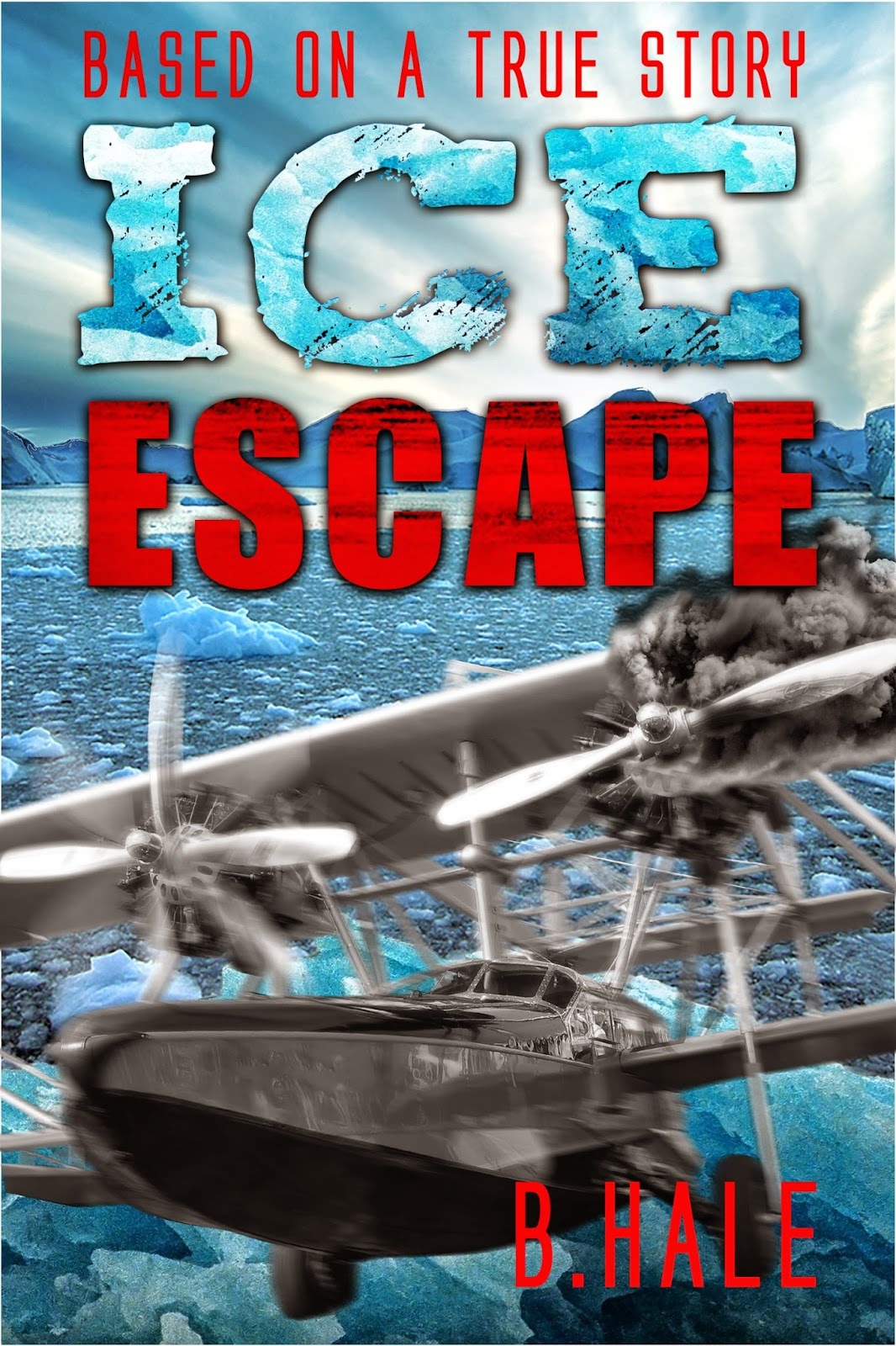 """Ice Escape"" author B Hale, cover designer: Kura Carpenter. www.kuracarpenterdesign.blogspot.co.nz"