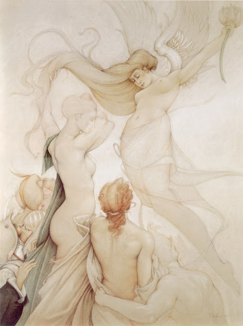 annunciation,Micheal Parkes,dreamscape