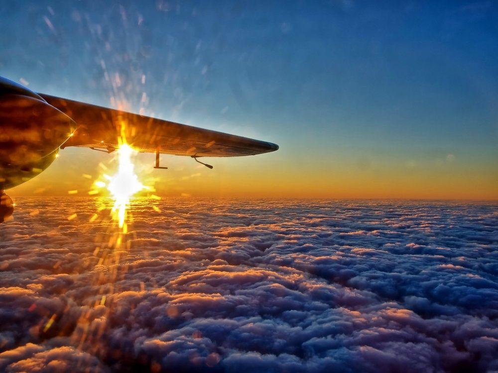 O mundo vista da janela do avião
