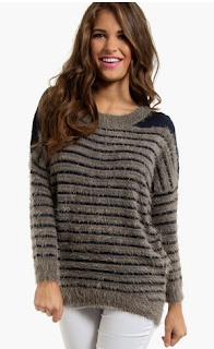 Agnes Striped Fuzzy Sweater