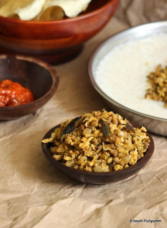 cherupayar thoran | green gram stir fry | moong bean stir fry