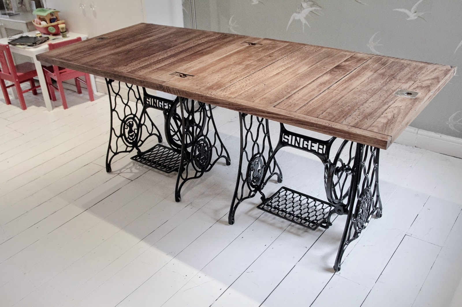 Awesome How To Make A Singer Sewing Machine Dining Table   With BBC Correspondent  Natalie Pirks