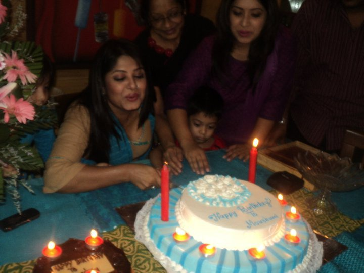 Moushumi at birthday party