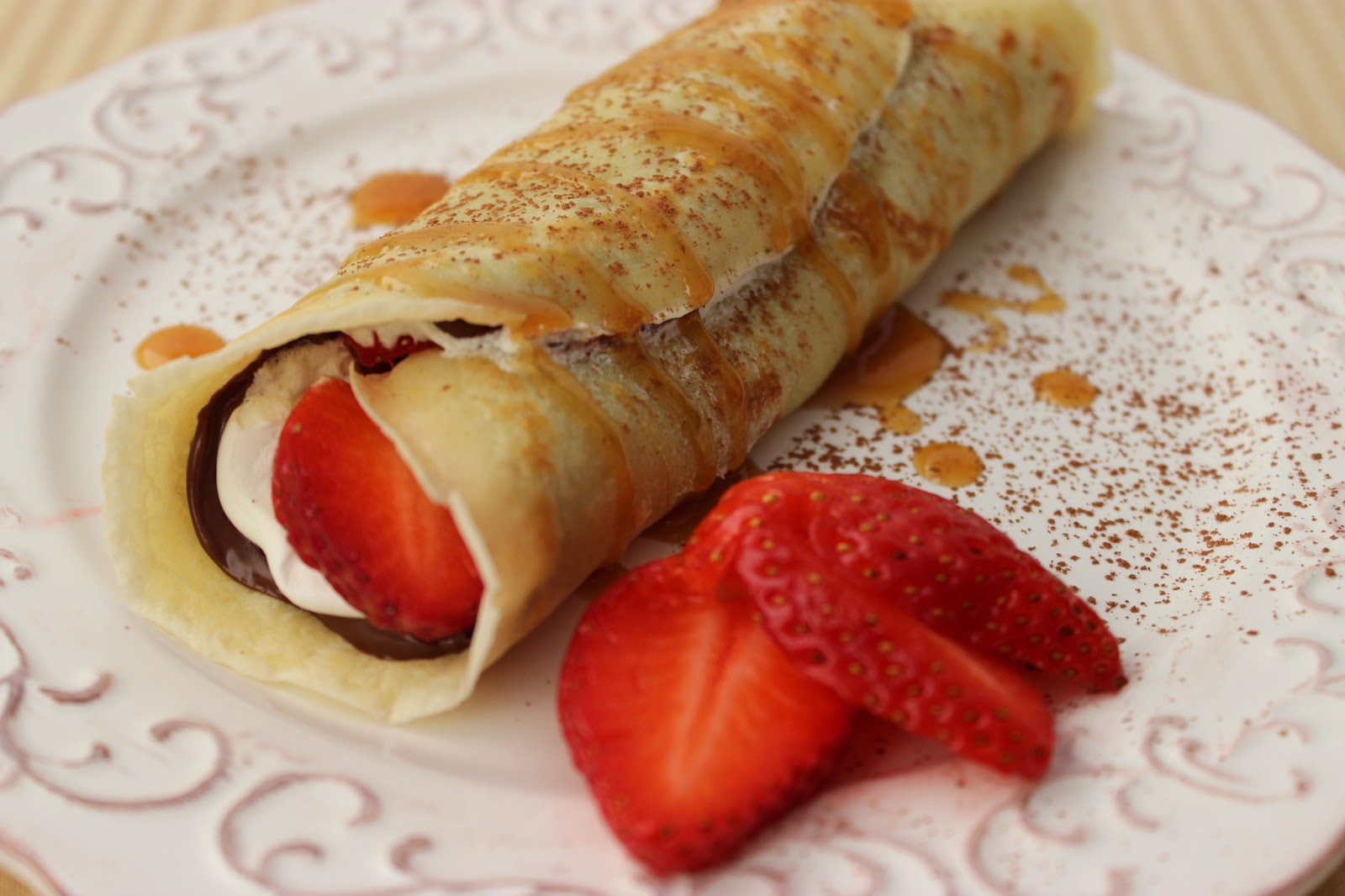 Chocolate Strawberry Crepes | Cooking on the Front Burner
