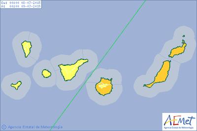 alerta naranja calor en canarias julio 2015