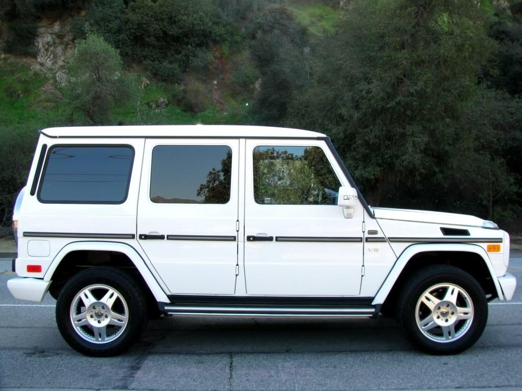 Mercedes benz g500 gelandewagen white benztuning for Mercedes benz gelandewagen