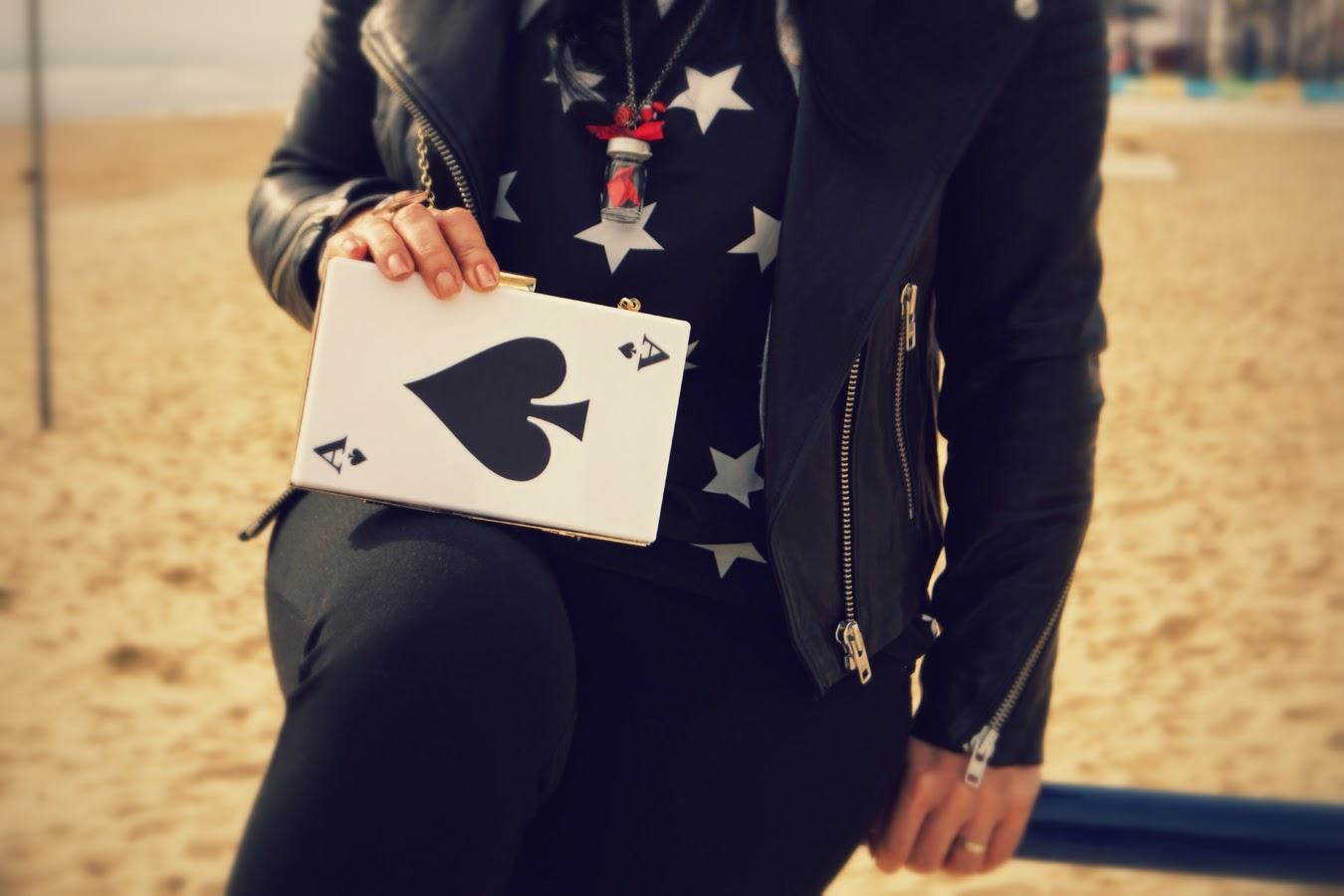 Oasap+Card+Pattern+Clutch+Bag
