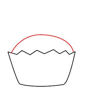 How To Draw A Kawaii Cupcake Step 3