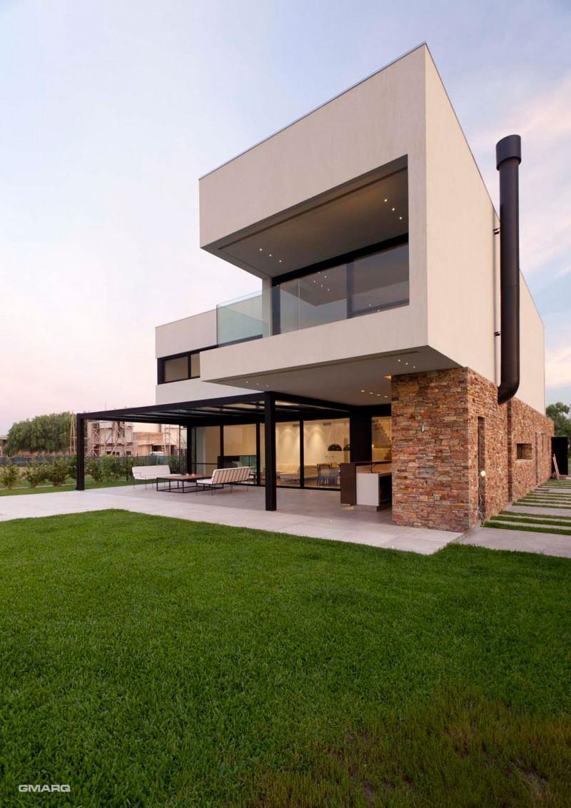 hogares frescos moderna residencia en buenos aires por el