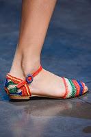 Плетени сандали на равна подметка Dolce & Gabbana