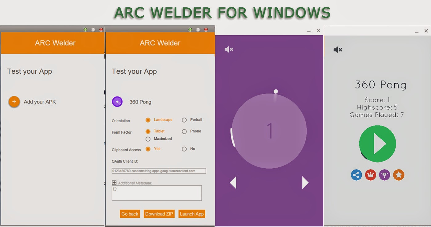 Run apk on windows with ARC Welder