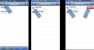 Desbloquear un contacto en WhatsApp para iPhone.