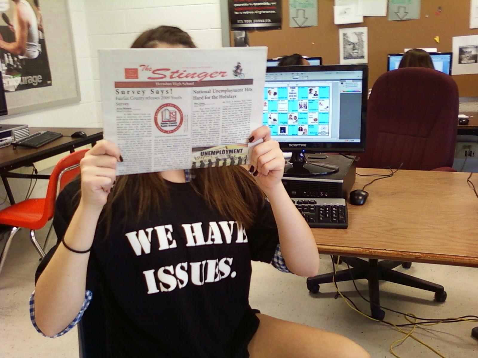 High School Newspaper Editor