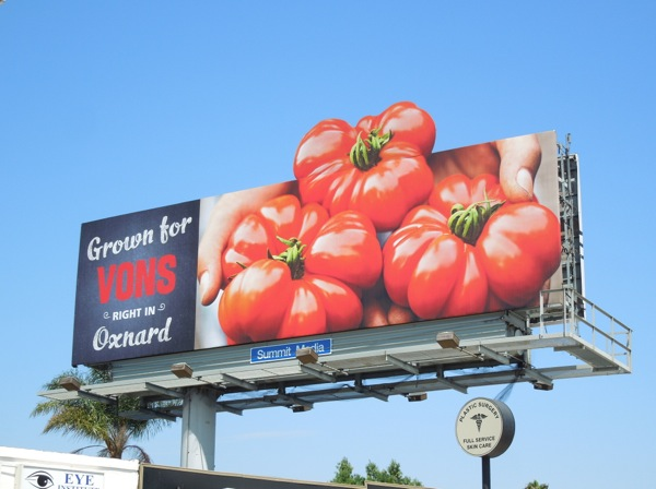 Grown for Vons tomatoes special extension billboard