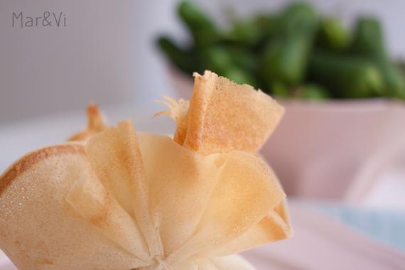Ricetta fagottini di pasta filo con champignon