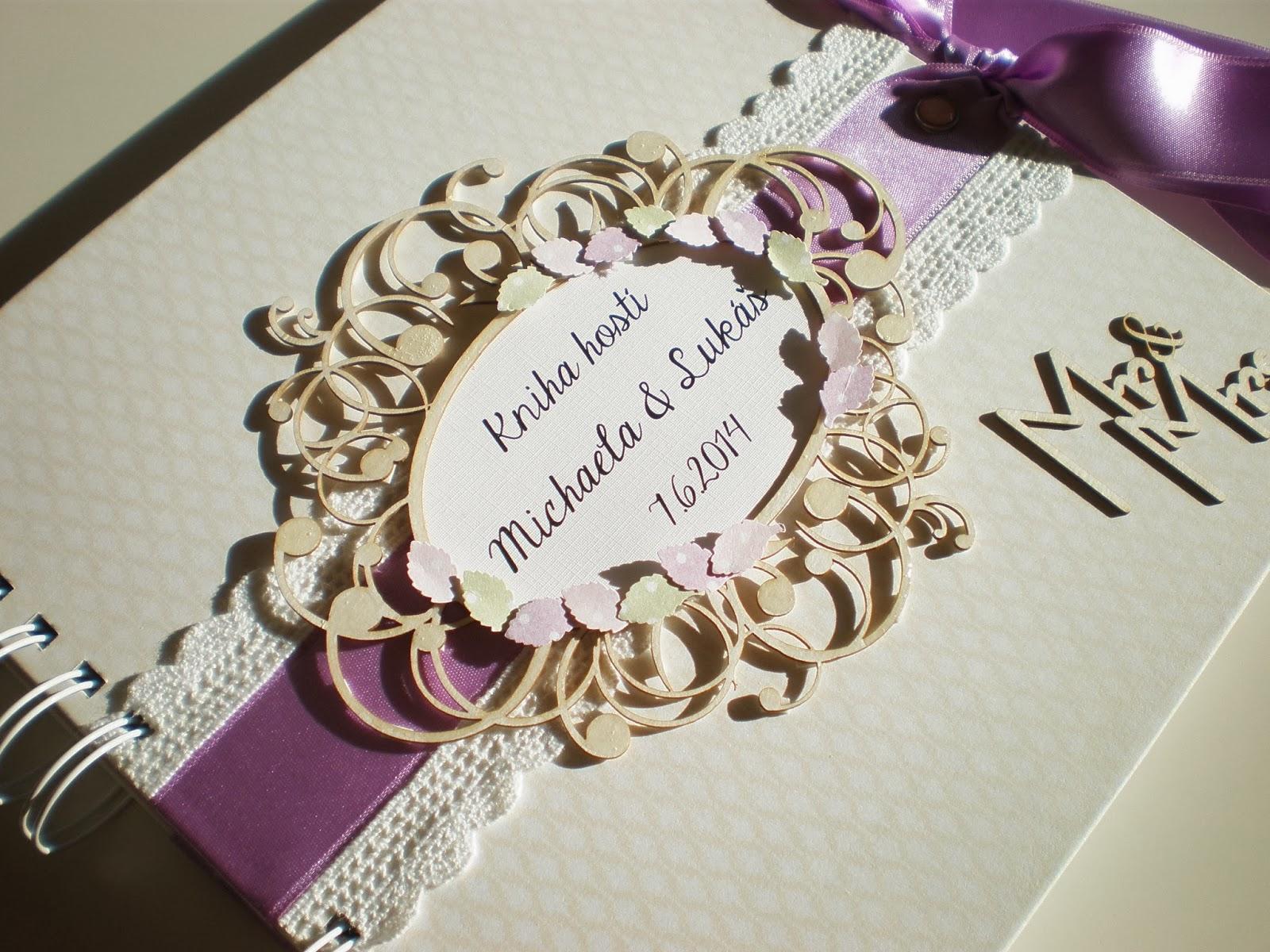 Kniha hostí fialková / Lila wedding book