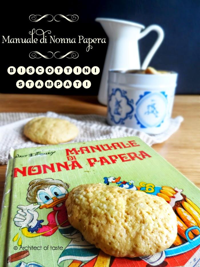 biscottini stampati - manuale di nonna papera