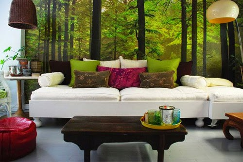 fresh and green living room