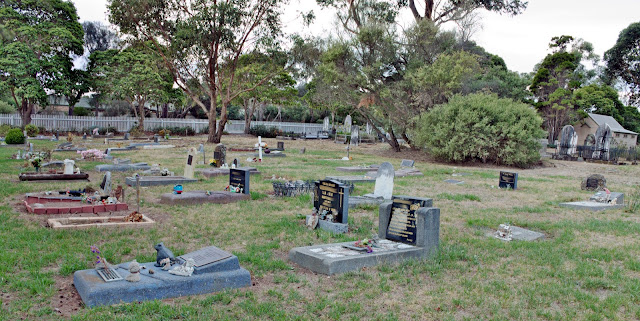 Image of children's graves - cemetery photography