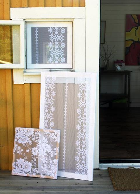 Homemade Valances For Windows : Relaxshacks recycled homemade screen windows for your