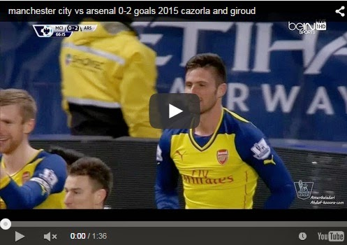 Highlights : Manchester City 0-2 Arsenal