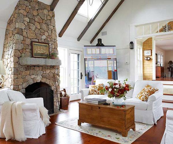 Chimeneas en piedra ideas para decorar dise ar y mejorar tu casa - Beautiful dizain image ...