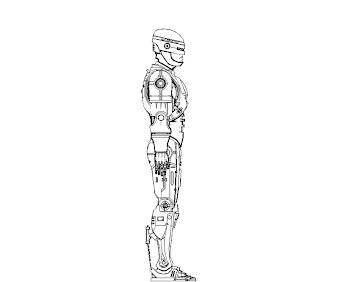 #6 Robocop Coloring Page