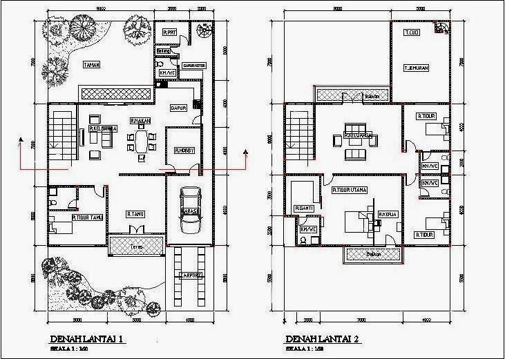 Gambar Desain Renovasi Rumah Type 45 Menjadi 2 Lantai  Model Desain Rumah Terbaru