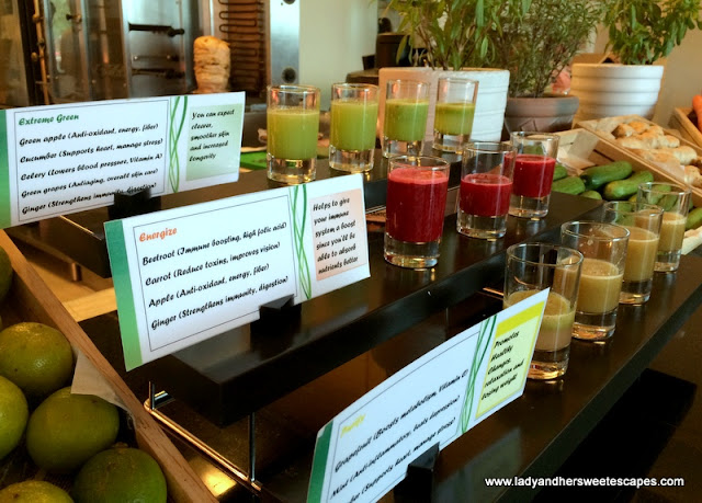 healthy smoothies at Ginger Friday Brunch