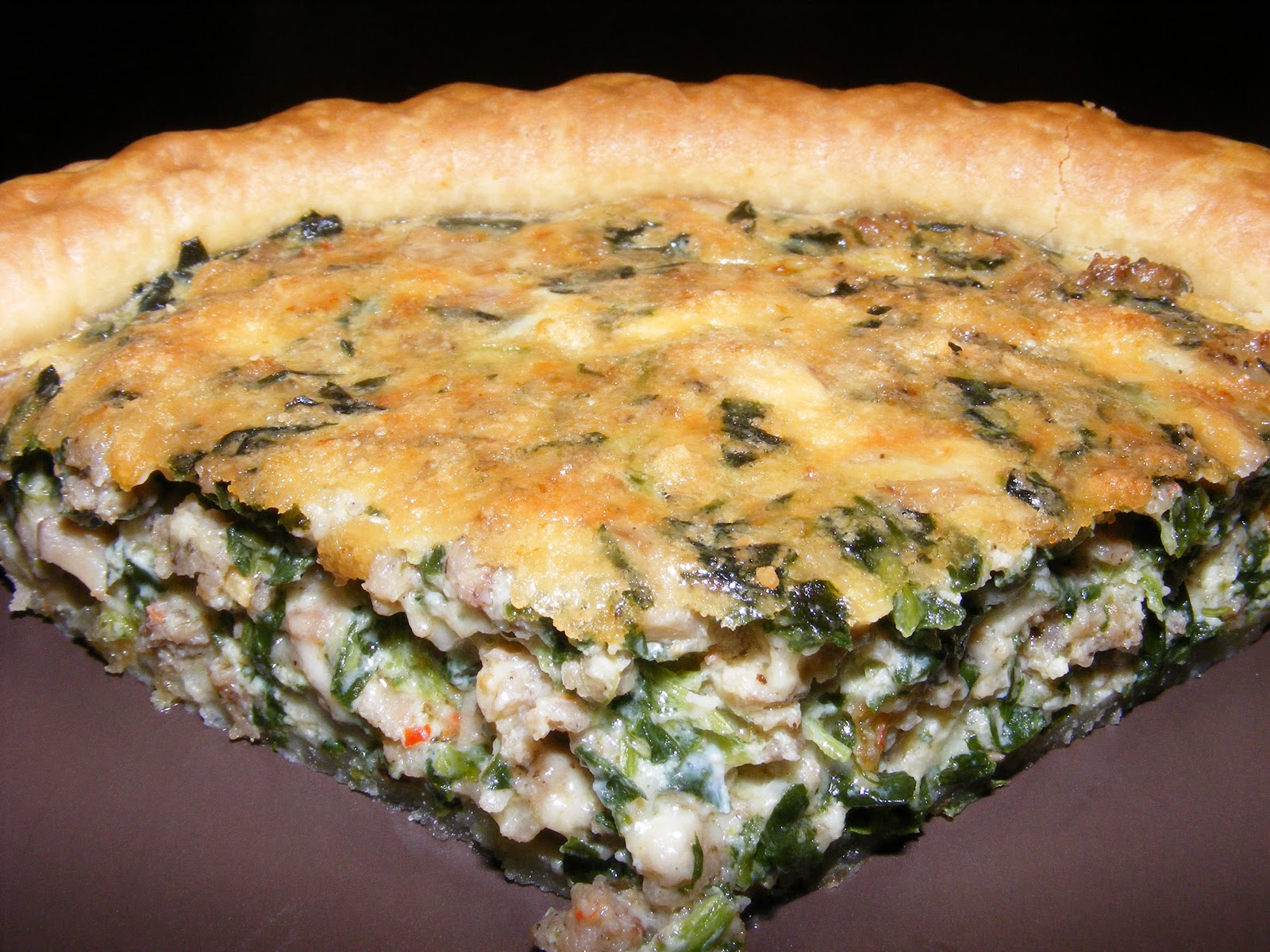 Spinach Mushroom Quiche Recipe — Dishmaps