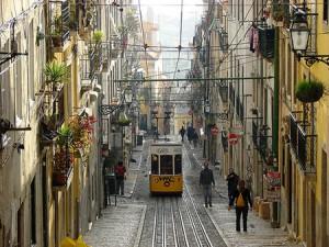 Barrio alto de Chiado en Lisboa