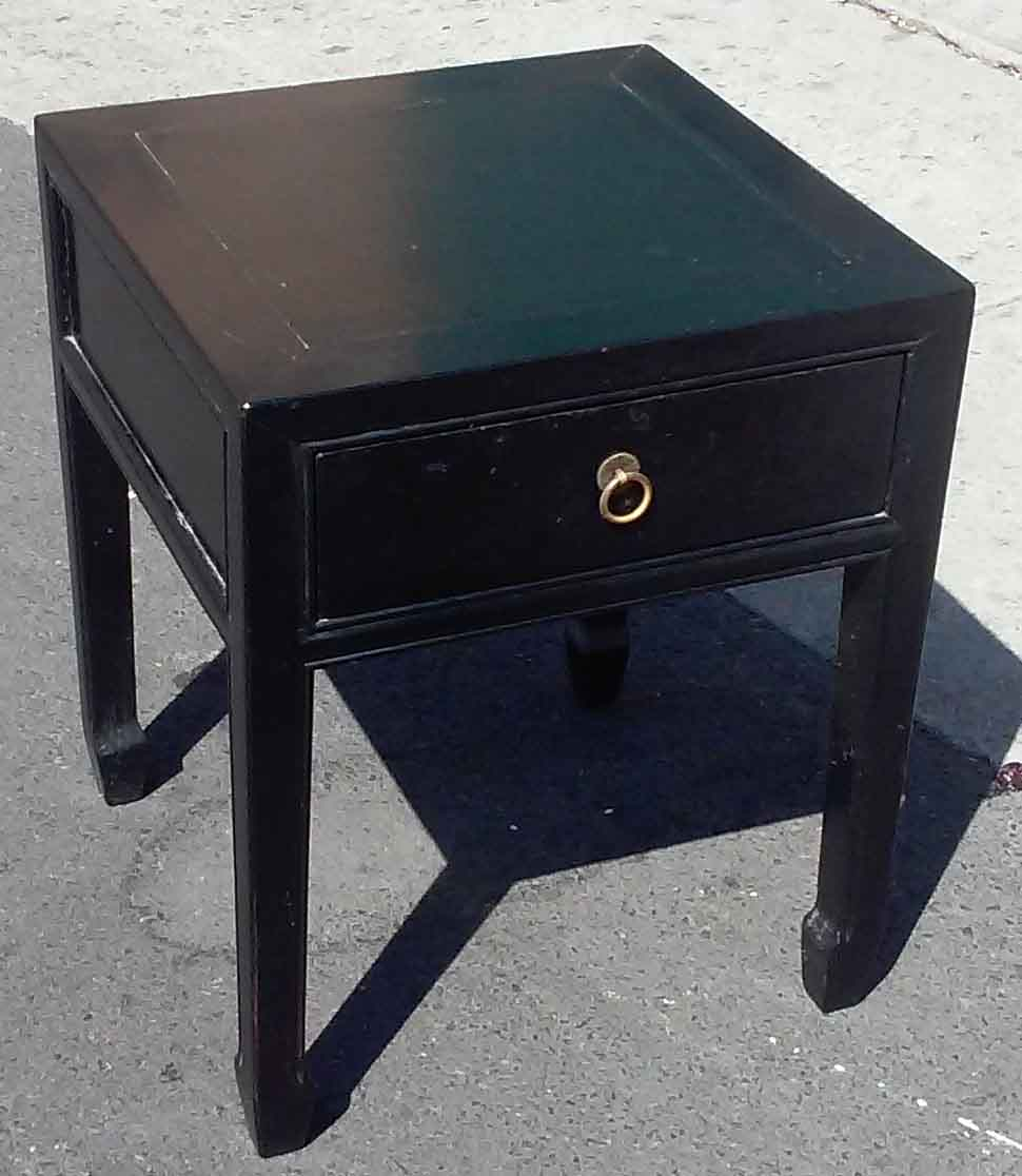 Uhuru Furniture Collectibles Sold Black Night Stand