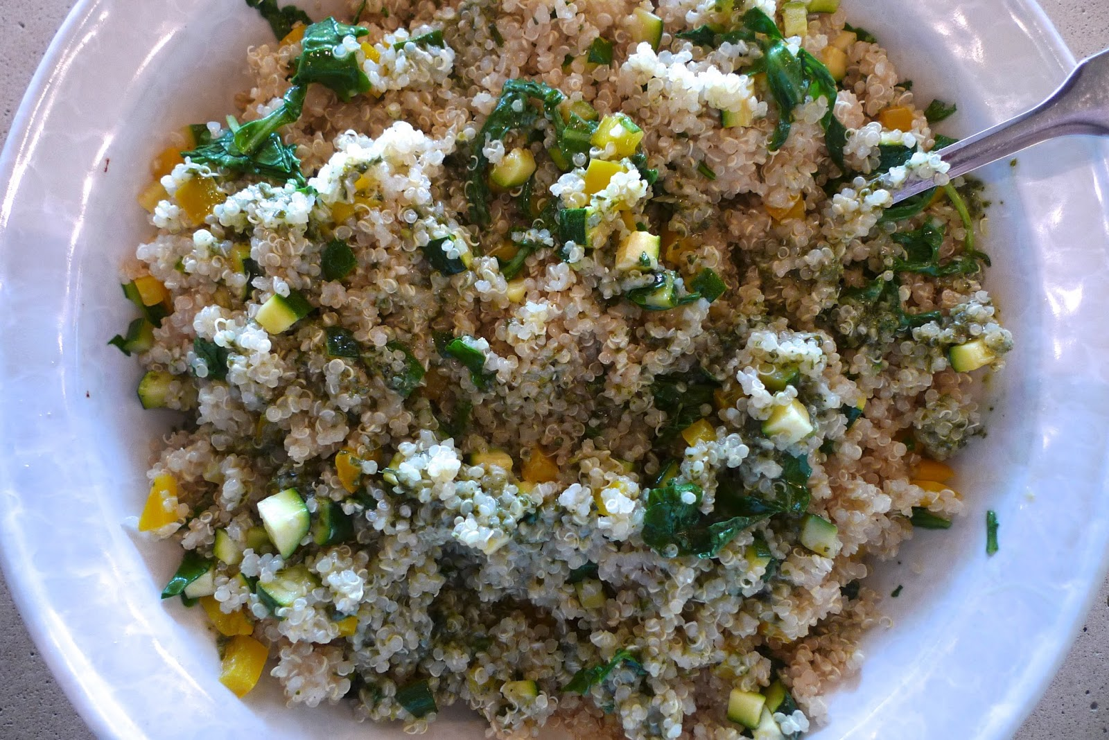 siriously delicious: Pesto Quinoa Salad