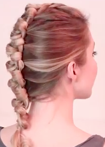 Faux Hawk Braid and Updo For Long Hair